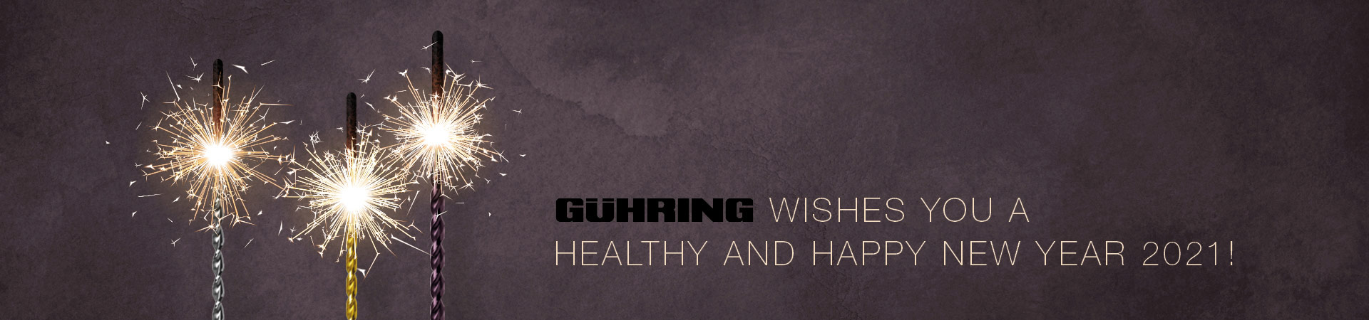 Gühring wishes you a healthy and happy new year 2021!