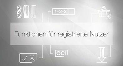 Funktionen für registrierte Nutzer